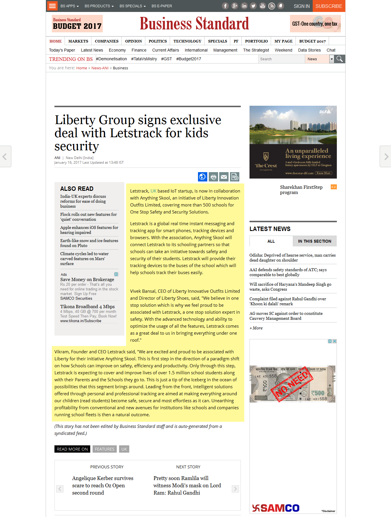 Liberty Group signs exclusive deal with Letstrack for kids security